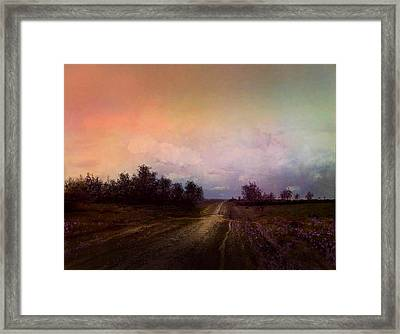 Long Road Framed Print by Robert Foster