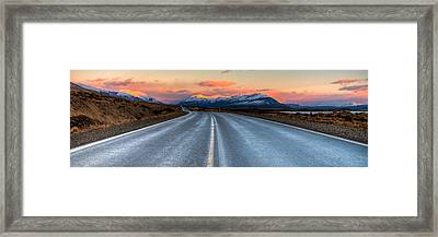 Long Road Framed Print by Roman St