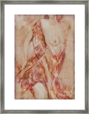 Framed Print featuring the digital art Long Scarf by Gabrielle Schertz