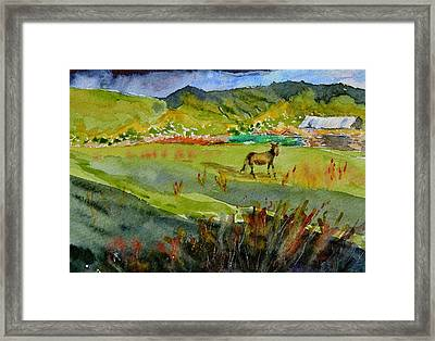 Long Shadow Storm Framed Print by Beverley Harper Tinsley