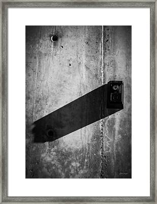 Long Shadow - Urban Architecture  Framed Print