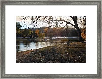 Long Shadows At Canyon Lake Framed Print by Dakota Light Photography By Dakota