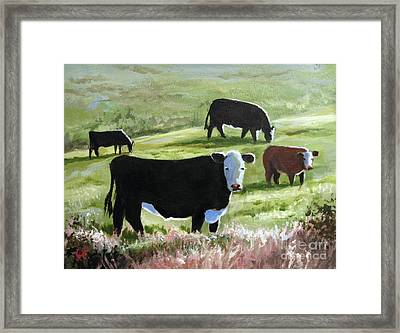 Framed Print featuring the painting Long Shadows by Carol Hart