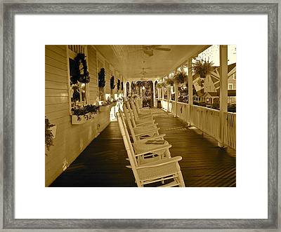 Long Southern Porch Framed Print