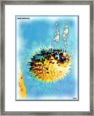 Long-spine Fish Framed Print
