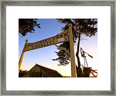 Framed Print featuring the photograph Long Street  by Paul Foutz