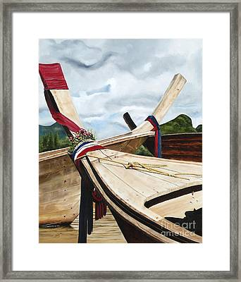 Long Tail Boats Of Krabi Framed Print