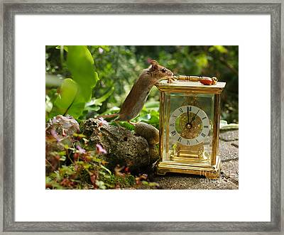 Long-tailed Field Mouse Lunchtime Framed Print by Elizabeth Debenham