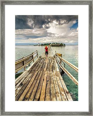 Long Walk Framed Print by Adrian Evans