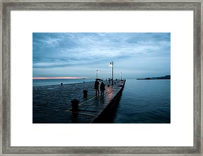 Trieste Pier - Italy Framed Print by Luca Lorenzelli