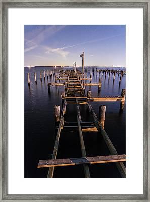 Long Walk On A Broken Pier Framed Print