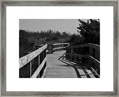 Framed Print featuring the photograph Long Walk by Roseann Errigo