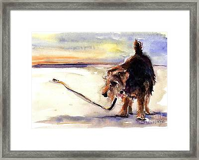 Long Walks And Sunsets Framed Print by Molly Poole