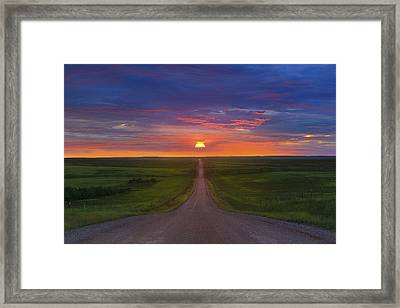 Framed Print featuring the photograph Long Way To Go by Kadek Susanto