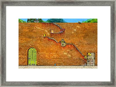 Long Way To The Top Framed Print by Colin Thompson