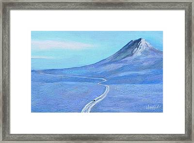 Long Winter Framed Print by Marina Likholat