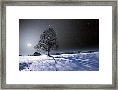 Framed Print featuring the photograph Long Winter Shadows by Larry Landolfi