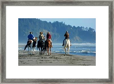 Longbeach Horses Framed Print