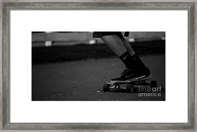 Longboard Framed Print by Connor Hauenstein