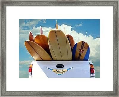 Longboard Heaven Framed Print by Ron Regalado