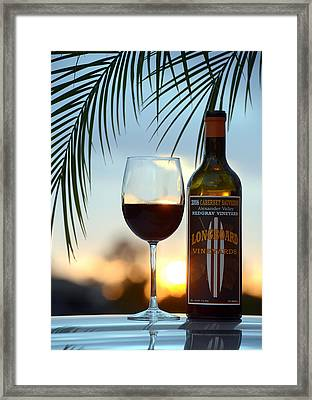 Longboard Sunset Framed Print by Jon Neidert