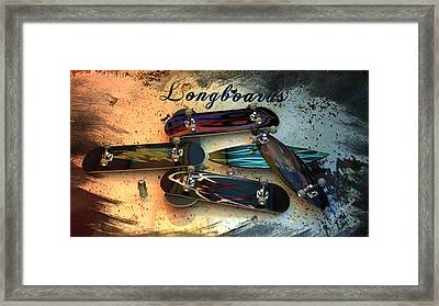 Longboards Framed Print by Louis Ferreira