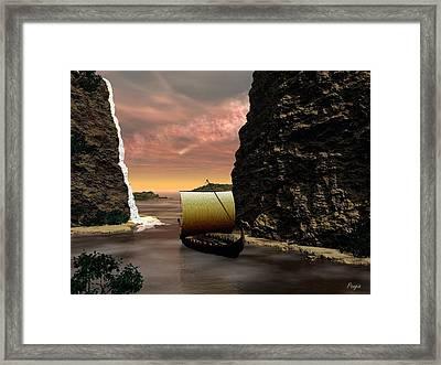 Longboat Framed Print by John Pangia