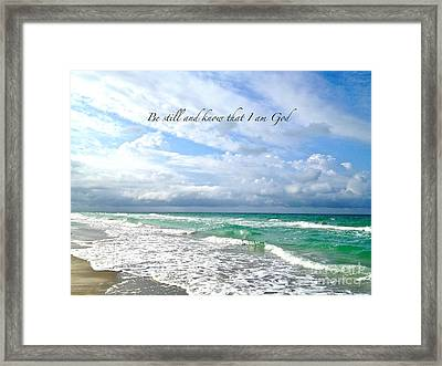Framed Print featuring the photograph Be Still by Margie Amberge