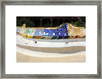 Longest Bench In The World Framed Print by Sophie Vigneault