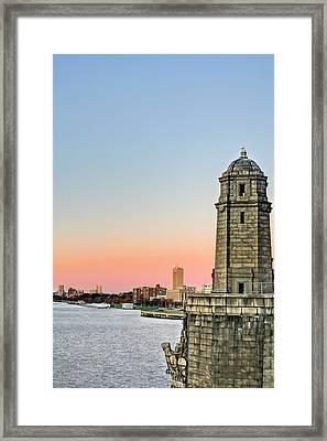 Longfellow Bridge Tower Framed Print by JC Findley