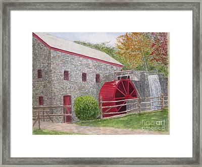 Longfellow's Gristmill Framed Print by Carol Flagg