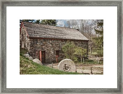 Longfellow's Wayside Inn Grist Mill Framed Print by Jeff Folger
