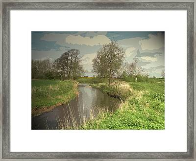 Longford Brook, Looking In The Direction Of Hill Top Farm Framed Print