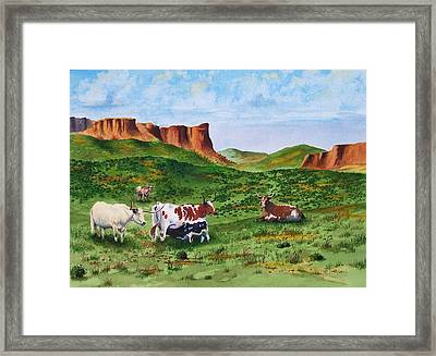 Longhorn Country Framed Print