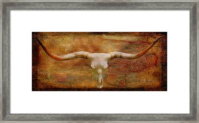 Longhorn Of Texas Framed Print