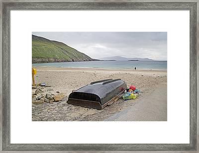 Longing For A Journey Keem Beach Ireland Framed Print