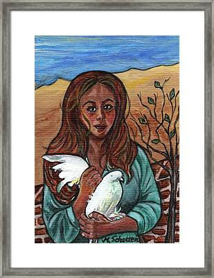 longing for peace - Sehnsucht nach Frieden Framed Print by Magdalena Schotten