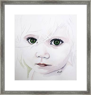 Longing Eyes Framed Print