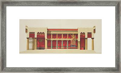 Longitudinal Section Of The Temple Framed Print by Daumont
