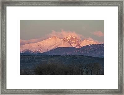 Longs Peak 1 Framed Print by Aaron Spong