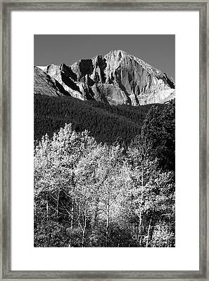 Longs Peak 14256 Ft Framed Print
