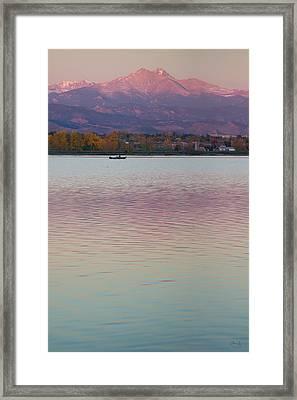 Longs Peak 2 Framed Print by Aaron Spong