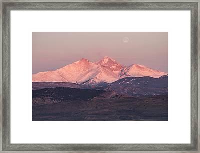 Longs Peak 4 Framed Print by Aaron Spong
