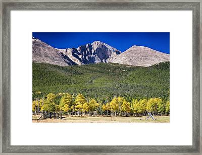 Longs Peak A Colorado Playground Framed Print