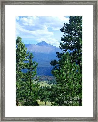 Longs Peak A Fourteener Framed Print by Stephen Schaps