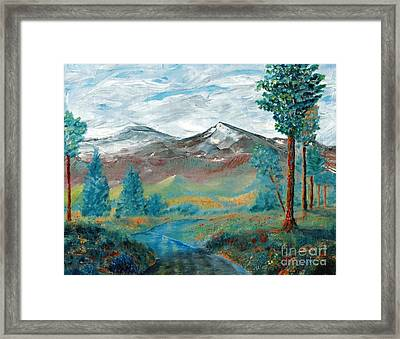 Longs Peak And Mt. Mitchell Framed Print by Stephen Schaps