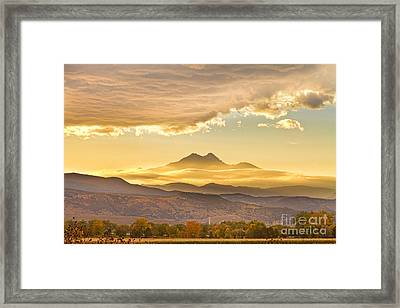 Longs Peak Autumn Sunset Framed Print by James BO  Insogna