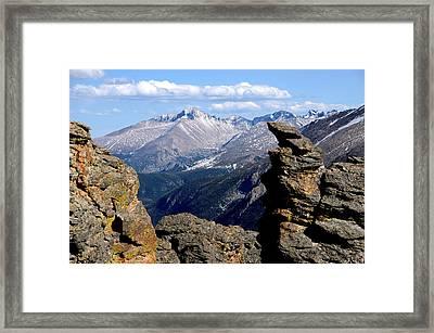 Long's Peak From The Rock Cut Framed Print