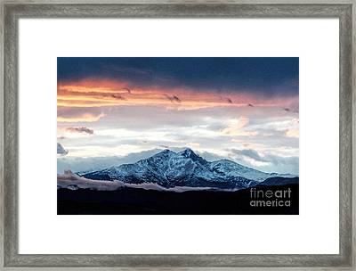 Longs Peak In Winter Framed Print