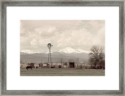 Longs Peak Old Country View Framed Print by James BO  Insogna
